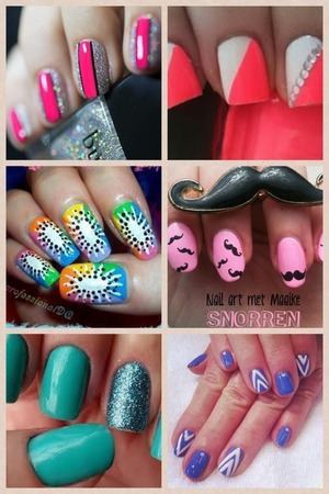 I love these nails so cute my style