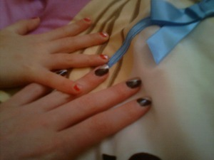 my sister did these for me and my little sister !:-)