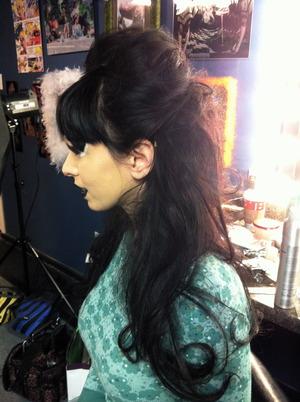 Hair for a photo shoot