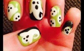 Halloween Nail Art Designs - Cute Ghost Nail Art