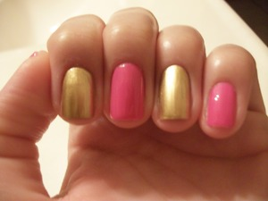 Maybelline Color Show in Pinkalicious and Bold Gold