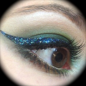 I went to see the latest GI Joe movie and thought I'd rig up a makeup look with green and camouflage army-like colours. So this is what I came up with and it was a good chance to use colours I don't usually gravitate towards. I took the chance to use my Eye Kandy Semi Sweet sprinkles for a glittery eyeliner, which looks amazing over a black base.  More info on...  http://michtymaxx.blogspot.com.au/2013/04/gi-joe-makeup-ootd.html