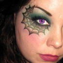 Spider Web Halloween Makeup