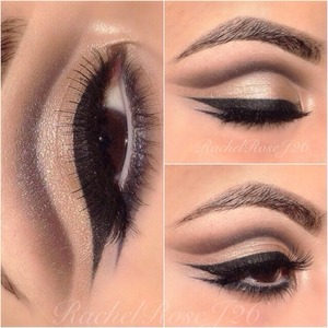 Instagram -> RezRoseRay for more upcoming looks!  Cut crease using the Urban Decay Naked palette