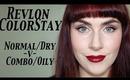 Revlon ColorStay Foundation; Normal/Dry -V- Combo/Oily