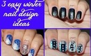Three Easy Winter Nail Designs for Short Nails #3