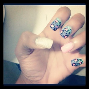 i usually dont wear nail enhancements but i had to for this.