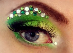 Rhinestone Green Eyes Pageant Designs Commission Inspired by Tony Bowles Collection