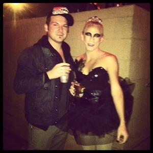 Halloween 2011... Black Swan with my friend Darren. I have a thing for bird costumes it would seem... lol... I made the costume...