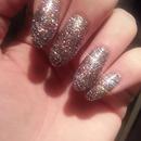 multi nail acrylic glitter