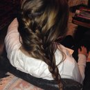 Braid in long hair