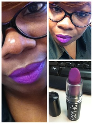 Twilight by I-con-ic cosmetics. The perfect dupe for MAC Heroine.