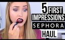 TESTING SEPHORA HAUL MAKEUP?! || 5 First Impressions