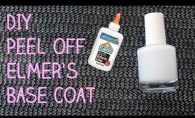 DIY Peel Off Elmer's Glue Base Coat (for Glitter Nail Polish!) | OliviaMakeupChannel