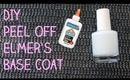 DIY Peel Off Elmer's Glue Base Coat (for Glitter Nail Polish!) | OliviaMakeupChannel
