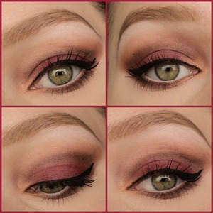 A fall look using cranberry color named 'maple' from the sleek ultra mattes v2 palette on the lid.  Instagram: http://instagram.com/makeupbyeline/