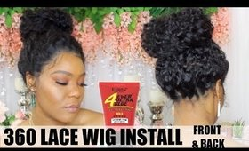 360 lace wig application front and back | Ywigs