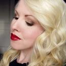 Warm Neutral Eye & Blood Red Lips featuring Tarte, Jordana, Palladio, Milani, OCC