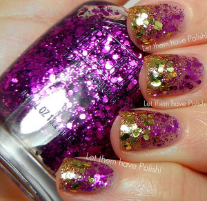 A very glittery gradient featuring all Milani products.