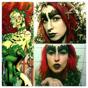 Poison Ivy inspired look