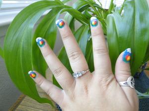 A cute Easter Egg nail idea I created