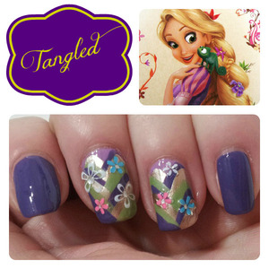 9 other Disney Princess Inspired Manicures on the blog http://www.hairsprayandhighheels.net/2013/02/disney-princess-inspired-nails.html