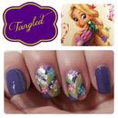 Rapunzel Inspired Nails