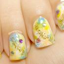 Splash of Spring Watercolor Nail Art