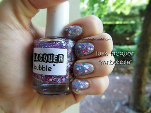 from the lush lacquer etsy shop, love this stuff! layered over sally hansen xtreme wear in wet cement