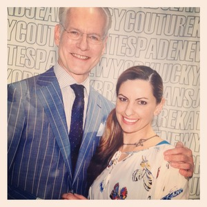 Hanging out with Tim Gunn, 2012.