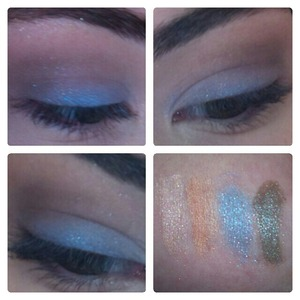 A very quick look I did using all Moon Rabbit Cosmetics Cupid (highlight) 6 More Weeks of Winter (crease - transition) Watching For UFOs (lid) TV Dinner (crease)  http://moonrabbitcosmetics.storenvy.com/