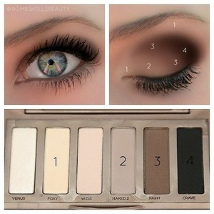 A look to try with your naked basics palette :)