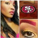 49er inspired Makeup