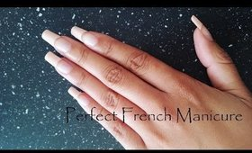 Perfect French Manicure At Home on Natural Nails | CillasMakeup88