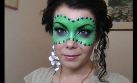 Halloween Series : Masquerade Ball Mask make-up tutorial