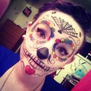 Halloween makeup, sugar skull