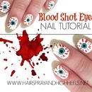 Halloween Nails: Blood Shot Eyes