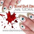 Halloween Nails: Blood Shot Eyes
