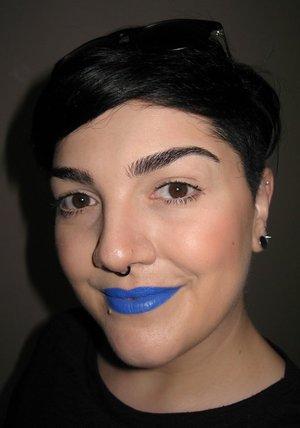 Blue Rimmel Scandaleyes eye pencil + Blue Eye Pencil by Neve Cosmetics ;)