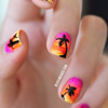 Nail Art Sunset