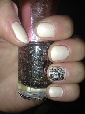 Used forever 21 love and beauty nail polish with candies nail glitter