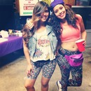 sissy and I at my '90's party! (: