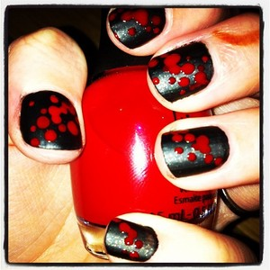 Blood spatter nails!