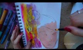 ART TIMELAPS JANE DAVENPORT MERMAID MARKERS