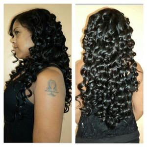 Sew-in Weave & Wand Curls www.styleseat.com/tatianawilson