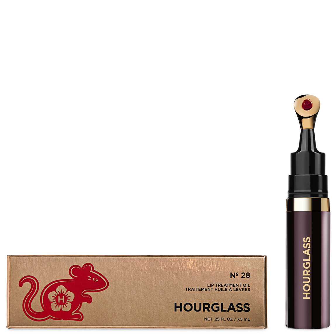 Hourglass Limited Edition Nº 28 Lip Treatment Oil product swatch.