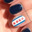 Chicago flag nails