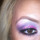 Pink glitter and purple.