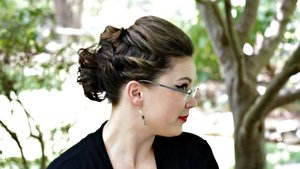 A fun flirty updo with twists for short hair lengths! See how to do it here: http://youtu.be/IV6MPUgHNhU
