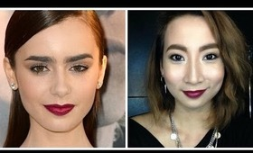 BEAUTY BY BEVERLY: Lily Collins Inspired Makeup